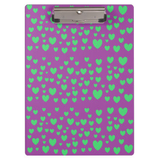 Green Hearts Clipboard
