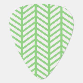 Green Herringbone Plectrum