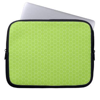 Green Honeycomb Electronics Bag