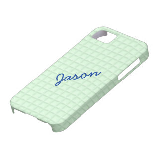 Green Honeycomb Fabric iPhone 5 Cover Template