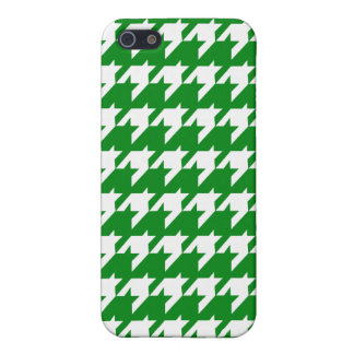 Green houndstooth cover for iPhone 5/5S