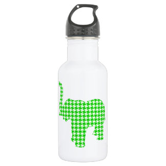 Green Houndstooth Elephant 532 Ml Water Bottle