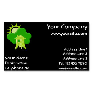 Green House Magnetic Business Card