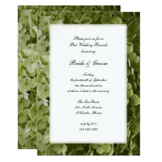 Green Hydrangea Flower Post Wedding Brunch Invite