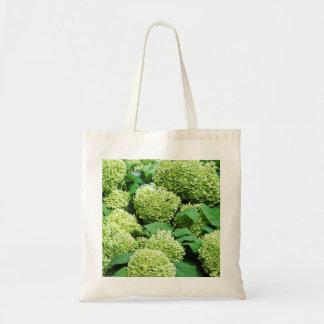 Green hydrangea tote bag