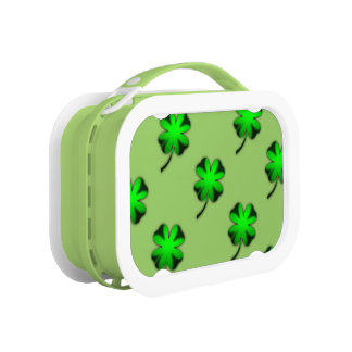 Green Irish Clover Lunch Box