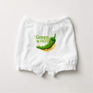 Green is HOT Nappy Cover