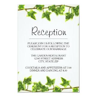 Green Ivy - Reception Invitation