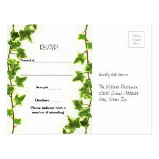 Green Ivy - RSVP Post Card