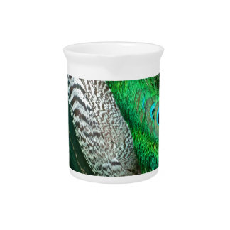 Green Lagoon Feathers Pitcher