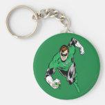 Green Lantern Fly Forward Basic Round Button Key Ring