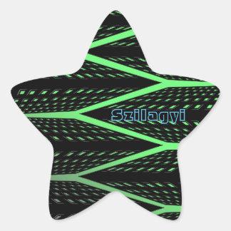 Green Laser Pattern Star Sticker