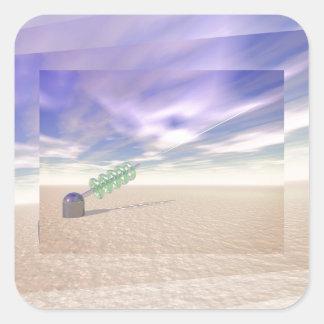 Green Laser Technology Square Sticker