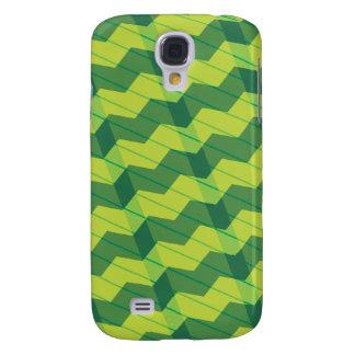 Green Layered Zigag Galaxy S4 Case