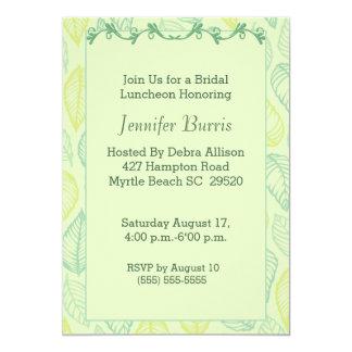 Green Leaf Bridal Luncheon Invitation