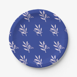 Green Leaf Pattern Paper Plate 7 Inch Paper Plate