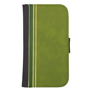 Green Leather and Suede Textured Wallet Style Case