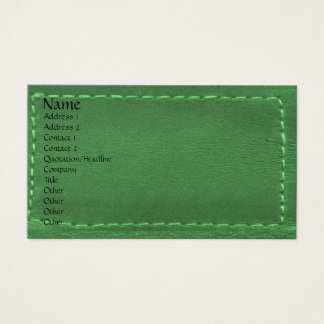 Green Leather Look Designer COWBOYS Business Card