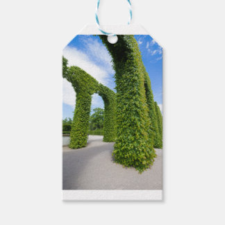 Green leaves arches gift tags