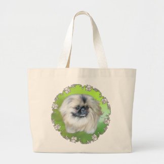 Green Lilly Large Tote Bag