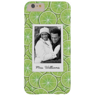 Green Lime Pattern | Add Your Photo Barely There iPhone 6 Plus Case