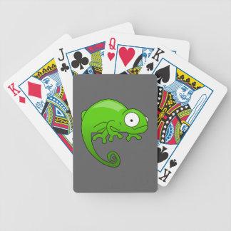 green lizard iguana cartoon bicycle playing cards