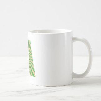 Green Lotus Leaf n Sparkle AAA Fine Alphabet Mugs