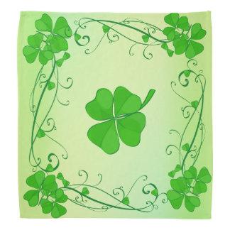 Green Lucky Shamrock Bandana