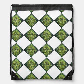 Green Man Bag repeating design