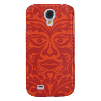 Green Man in Tangerine & Orange Galaxy S4 Case