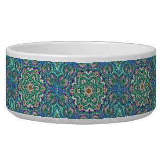 Green Mandala - dog/pet bowl Pet Bowl