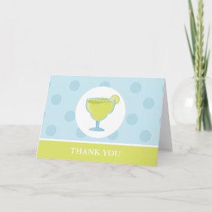 Green Margarita Drink Thank You Card