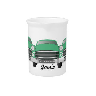 Green Mean Classic Car Pitcher