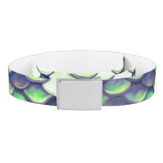 green mermaid skin pattern belt