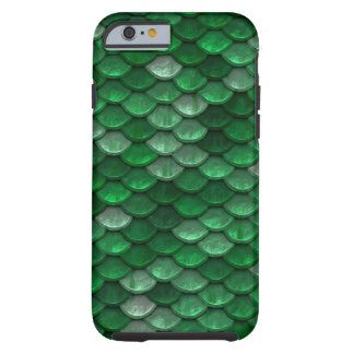 Green Metallic Scales Pattern Tough iPhone 6 Case