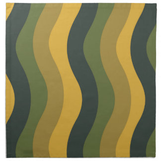 Green Mix Wavy Stripes Napkin
