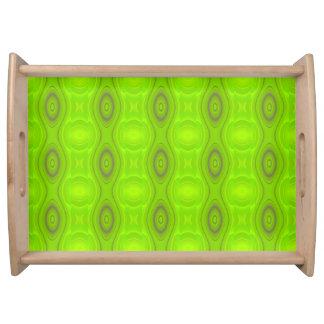 Green Mod Pattern Serving Tray