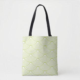 Green Modern Waves Tote Bag