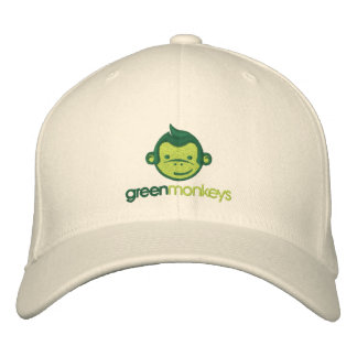 Green Monkeys cap Embroidered Hats