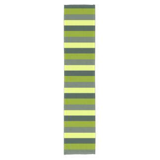 Green monochromatic short table runner
