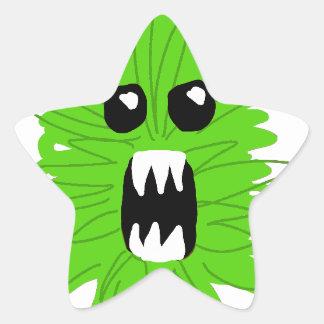 Green Monster Baby Apparel Star Sticker