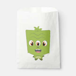 Green Monster Favor Bag Favour Bags