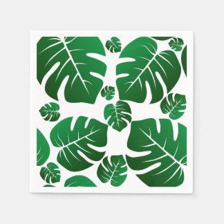 Green Monstera Plant Leaves Disposable Napkin