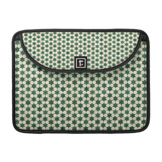 Green Moroccan Star Pattern Sleeve For MacBook Pro