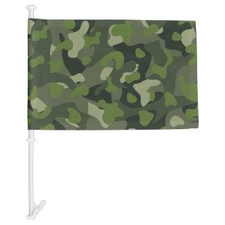Green mountain disruptive camouflage car flag