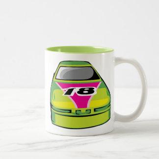 Green Nascar Two-Tone Coffee Mug