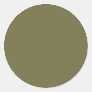 GREEN NOVA Color Shades: Organizing Writing Tools Round Sticker