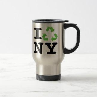 Green NY 15 Oz Stainless Steel Travel Mug