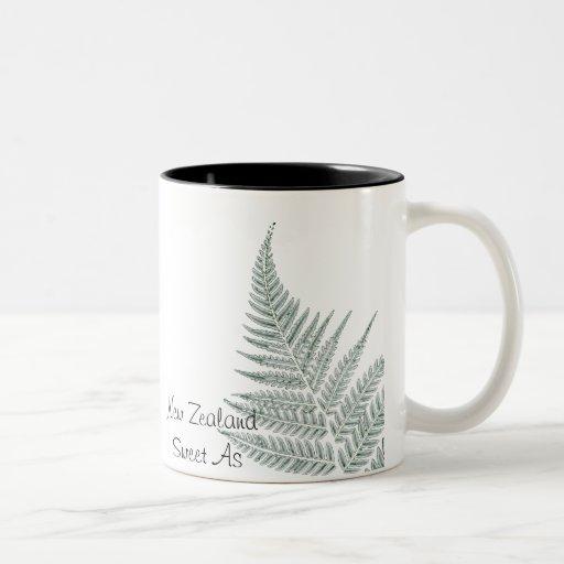 Green NZ Silver Fern Mug