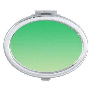 Green Ombre Travel Mirror